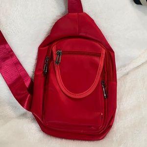 🆕❤️Nollia Crossbody Sling Bag, Red (Nylon/PVC)